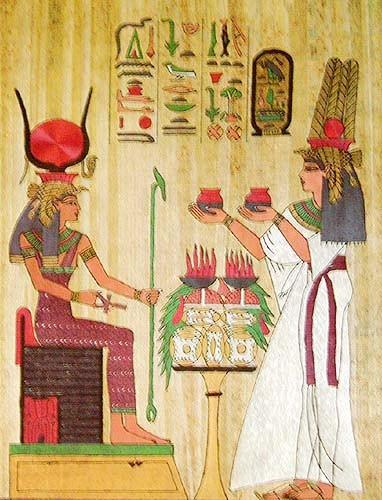 Hathor und Nefertari Alu Drucl