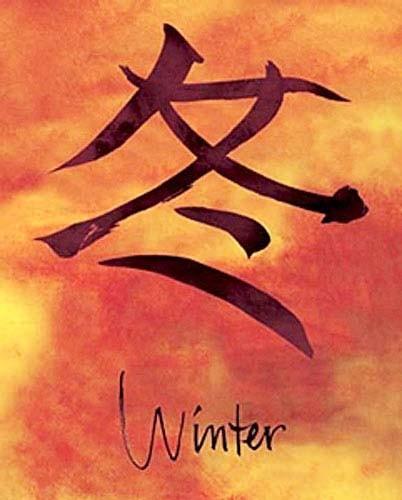 Chinesisches Zeichen für Winter-Poster