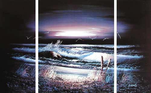 Beach by Night by Gabriel