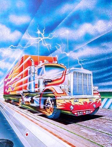 Truck mit Anhänger