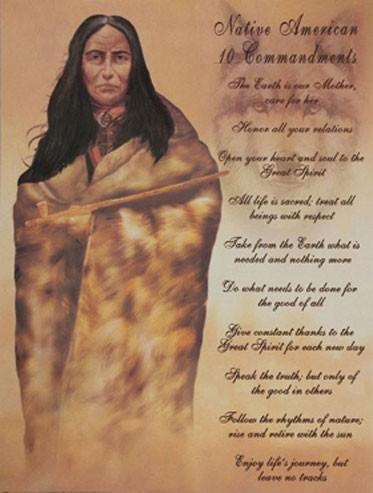 Native American 10 Commandments III