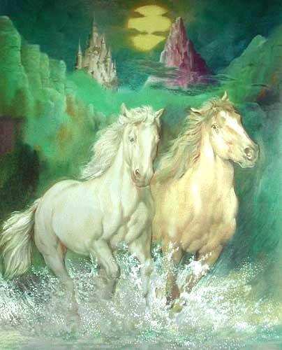 Horses and Castle by L. Bargallo