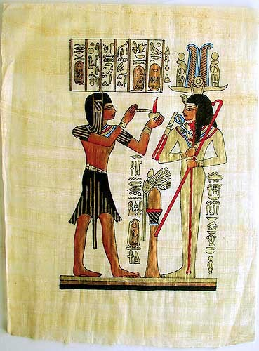 Bild aus Papyrus