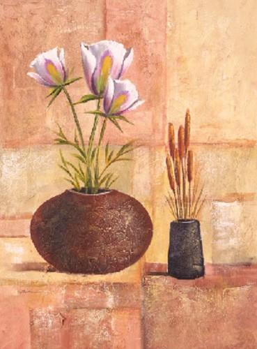 Blumen, Flores sobre abstracto III, Beltran