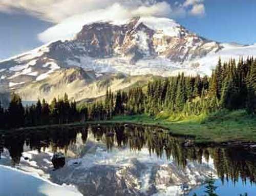 Berglandschaft mit einem See, Poster