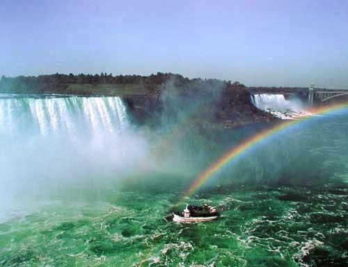 Wasserfall und Regenbogen