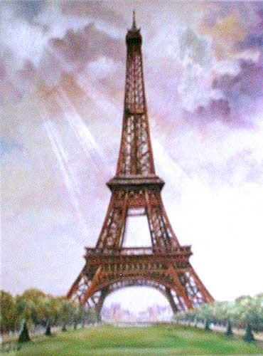 Eiffelturm Alubild