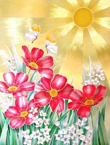 Sonnenstrahlen Alubild 32x42 cm