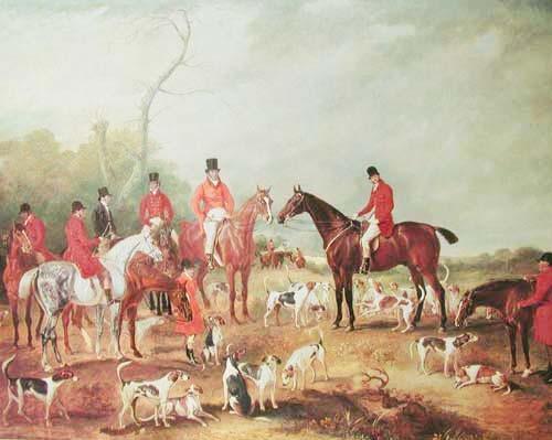 The Birton Hunt by John Ferneley 1782- 1860
