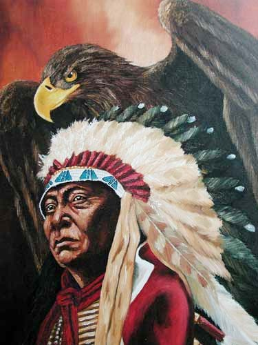 Chief Joseph and Eagle by Vogtschmidt