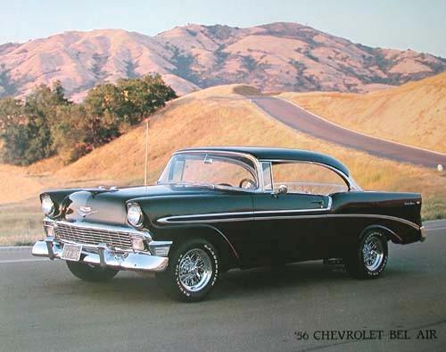 Chevrolet Bel Air 1956 Chevrolet Transport Weltall Poster Kunstdrucke Alubilder Fantastic Pictures