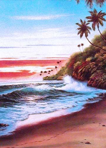Beach Sunset II by Lirette
