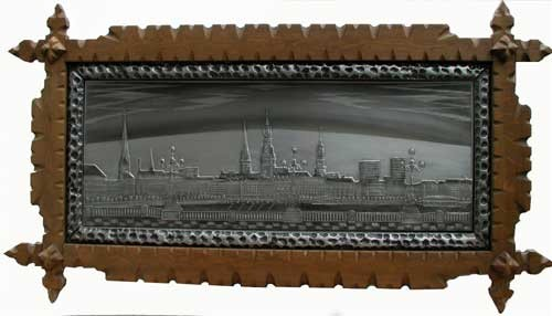 Hamburg, Binnenalster Zinnbild 95x170