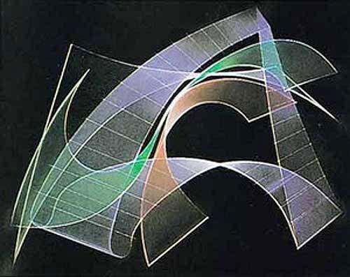 Abstraktes Bild mit schwarzem Hintergrund