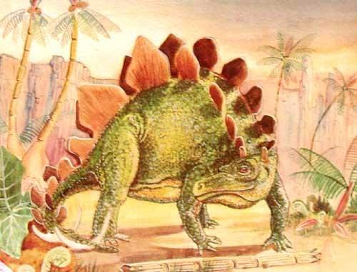 Stegosaurus Alu Druck
