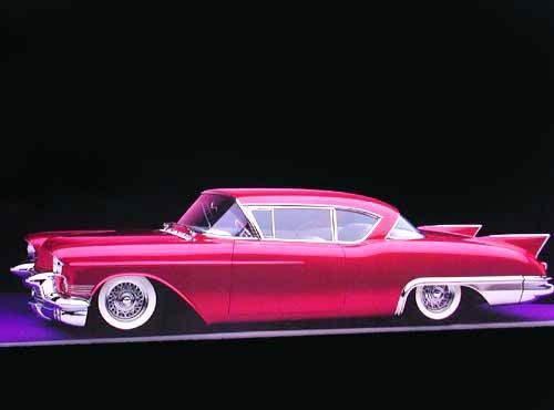 Cadillac Eldorado Custom 1957 Poster