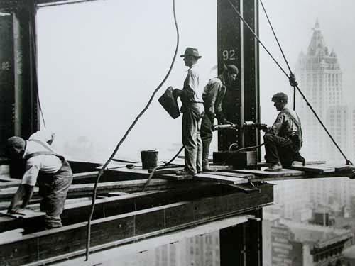 New York, Arbeiter auf 92 Stock