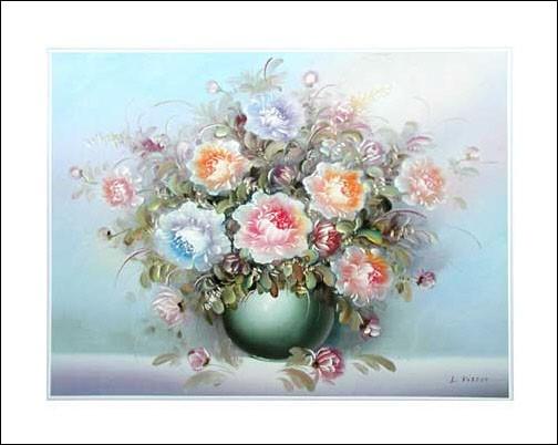 Vase mit Blumen by R. Kisser