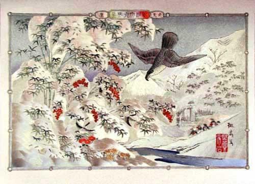 Asiatischer Winter - Alu Druck
