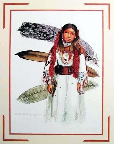 Indianermädchen Kunstdruck 40x50