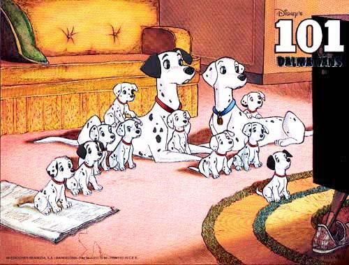 101 Dalmatinas Postkarte