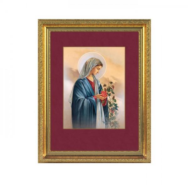 Heilige Maria mit Rosen- Wandbild