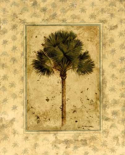 Elegante Palme Kunstdruck 56x71 cm