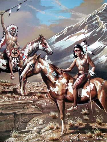 Indianer Krieger von Ampel, Poster