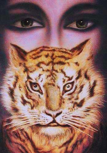 Augen und Tiger