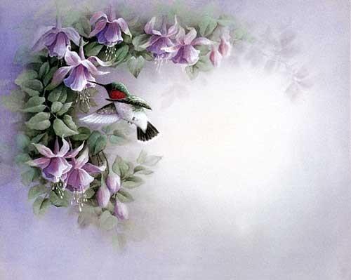 Exotische Blumen Fotopassepartout