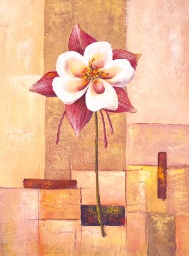 Blume, Flor grande sobre abstracto IV, S. Sauci