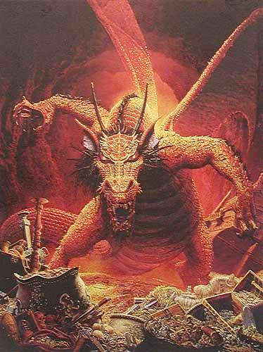 Großer rote Drache von Dungeons und Dragons Bild