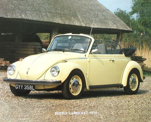 VW Beetle Cabriolet 1974